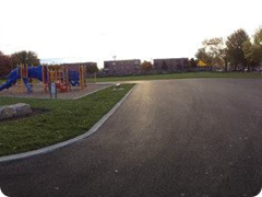 A panoramic image of our entire renovated school yard